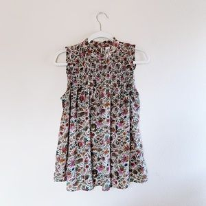 Anthropologie Maeve Mock Neck Floral Ruched Top 8